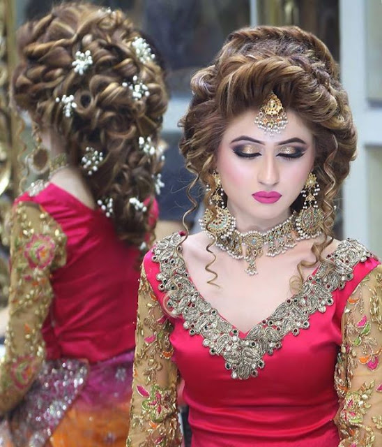 Bridal Hair Style With Jewelry For Girls Pak Fashion Style For
