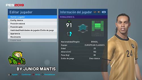 PES 2019 PS4 MyClub Legends Offline v6 DLC 4 0 by Junior Mantis
