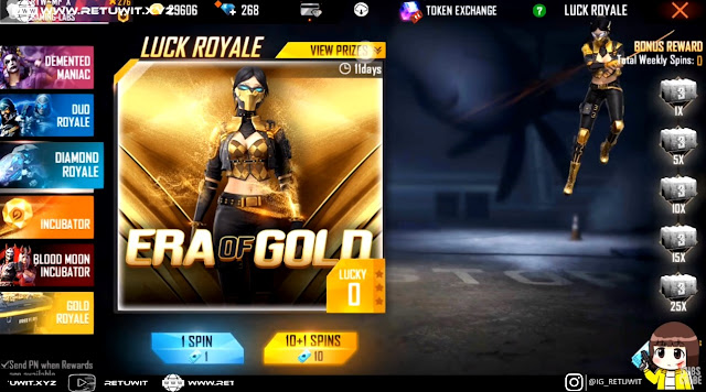 Spin Hoki Diamond Royale Bundle Era Of Gold Versi Cewe
