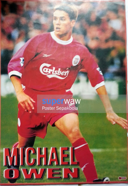 Poster Michael Owen (Liverpool 1998)