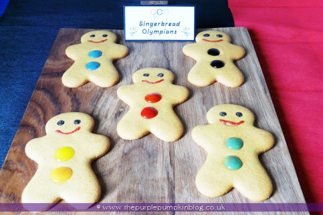 Gingerbread Olympians for an #Olympics Party at The Purple Pumpkin Blog