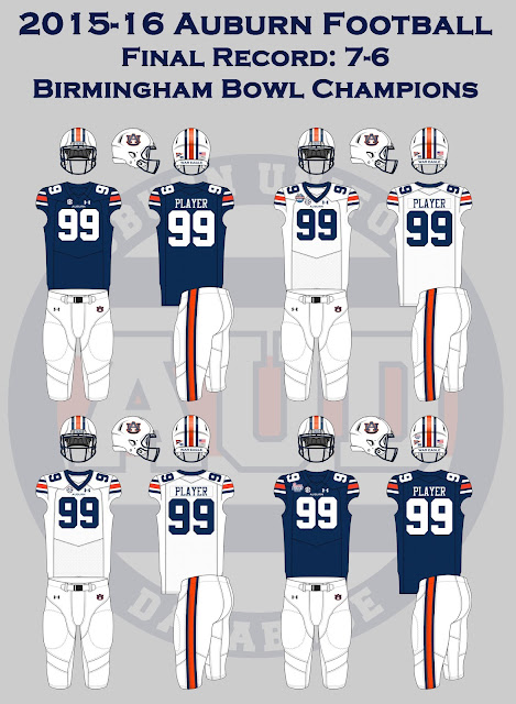 Auburn football uniform record 2016