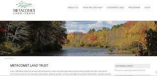 screen grab of the new Metacomet Land Trust webpage