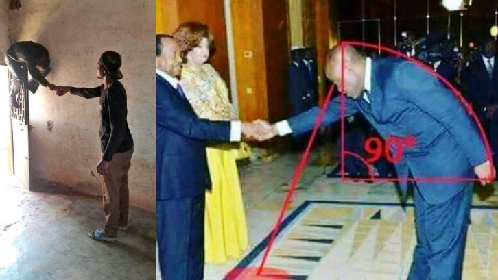 """Social media trolls Cameroon president and Sports minister's """"humble"""" greeting"""