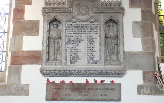 War memorial at Yoxall Church