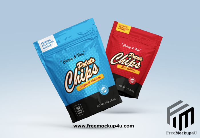 Plastic Pouch Packaging Mockup Psd Free Download