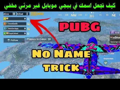 How to hide the name in the game PUBG Mobile