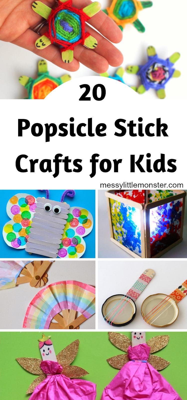 20+ popsicle stick crafts for kids