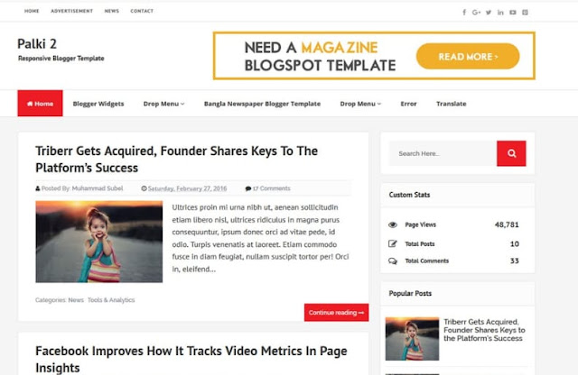 Palki-2 Free Blogger Templates