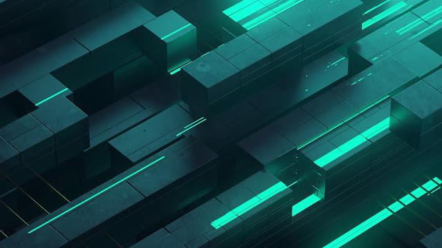Papel de Parede Neon Abstrato 3D