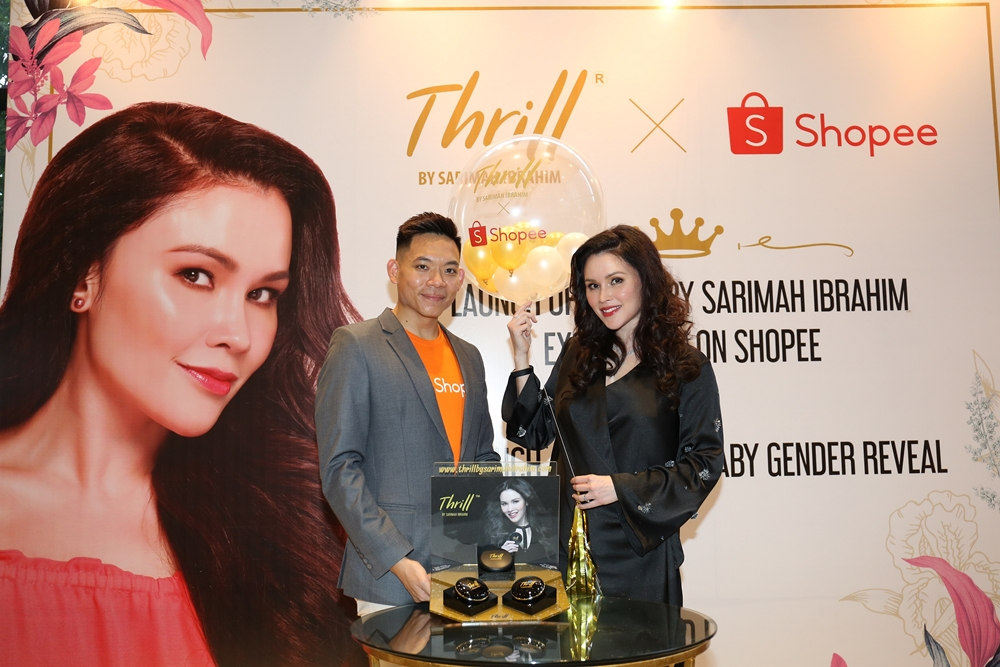 Thrill by Sarimah Ibrahim, Shopee, Che Puan Sarimah Ibrahim, Gender Reveal, Royal Baby, Thrill Superstar Treatment Cushion Foundation, Thrill Perfecting Finish Compact Powder, Beauty by Rawlins
