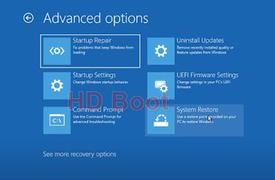 كيفية تشغيل الويندوز دائمًا في إعدادات بدء التشغيل المتقدمة Advanced Startup Settings