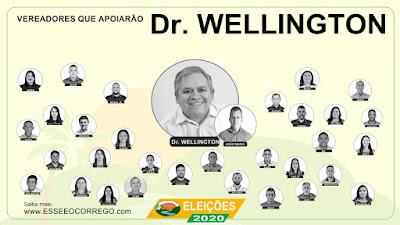 Conheça os vereadores que estão apoiando Dr. Wellington