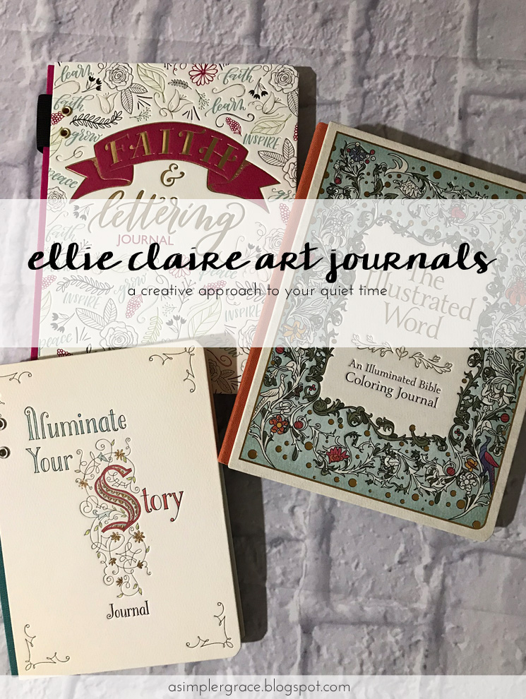 Taking a creative approach to your quiet time with #ellieclairegifts interactive art journals. #sponsored