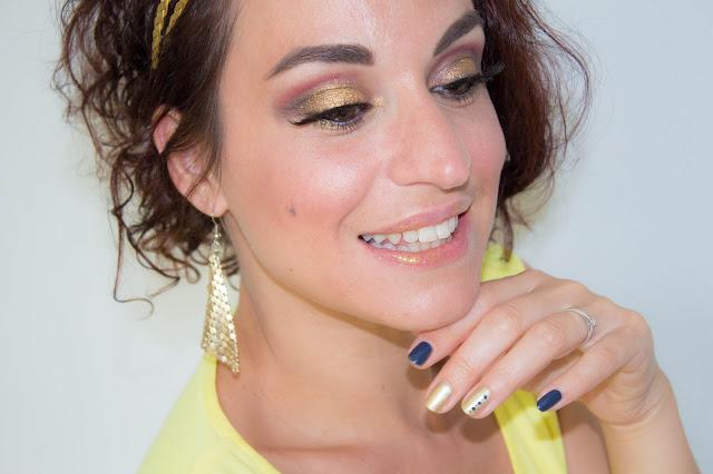 Maquillage de soirée Or et Gris 💕 | MSC