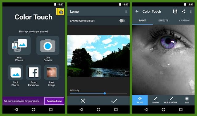 تحميل برنامج تغيير لون الصور باحترافية للاندرويد Color Touch