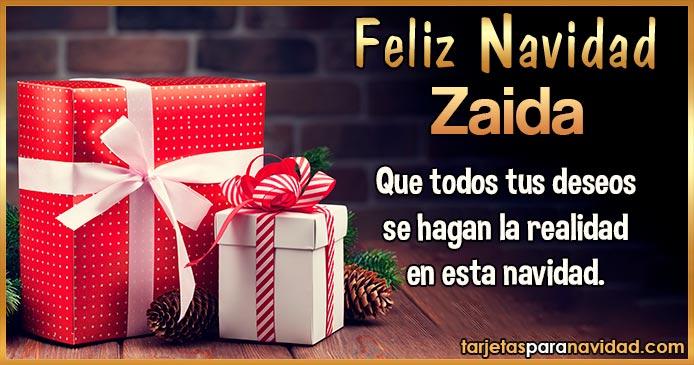 Feliz Navidad Zaida