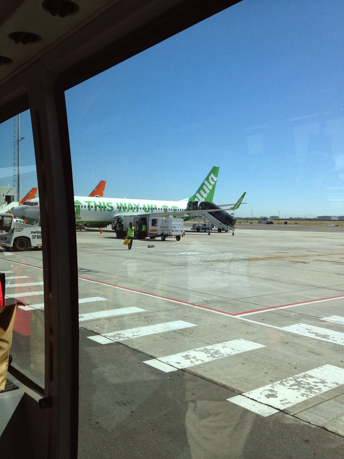 Cape Town - A lot of people on our airport bus got a chuckle reading the slogan on this plane