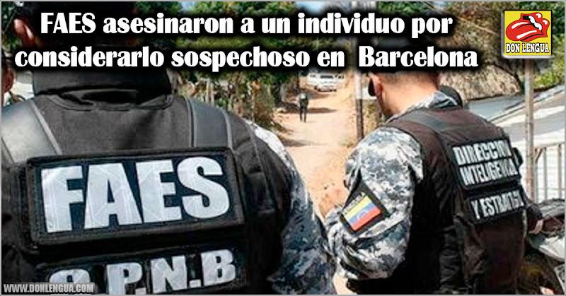 FAES asesinaron a un individuo por considerarlo sospechoso en Barcelona