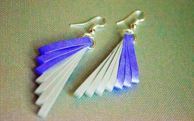Quilling Paper Earring Designs with Comb
