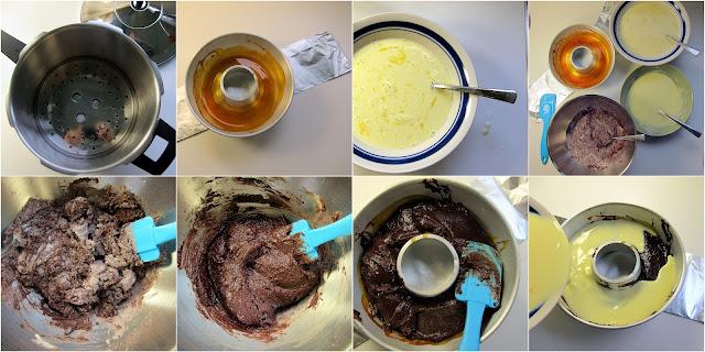 Making chocflan in Kuhn Rikon pressure cooker
