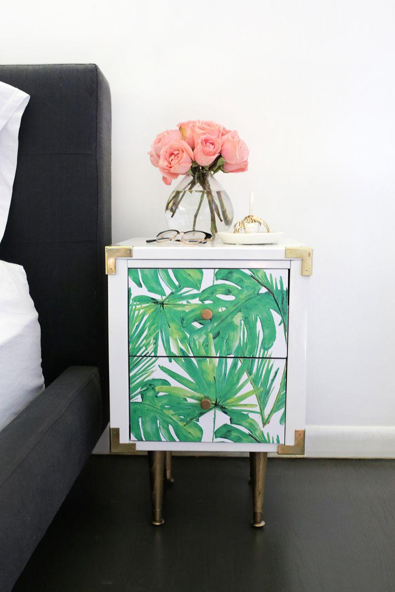 DIY Leaf Print dresser