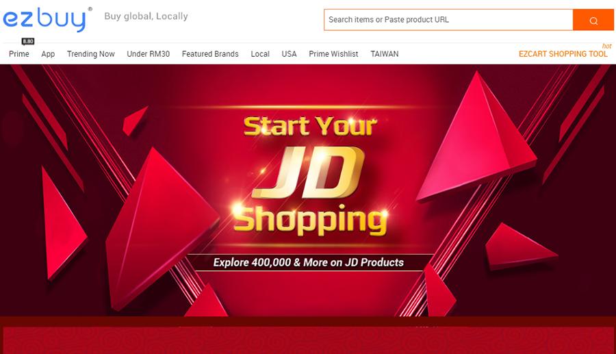 Ezbuy, online shopping, produk, jd, mogujie, sales, voucher, diskaun,