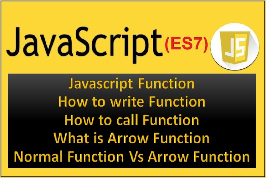 What is function in Javascript? Definition of Function, Arrow Function