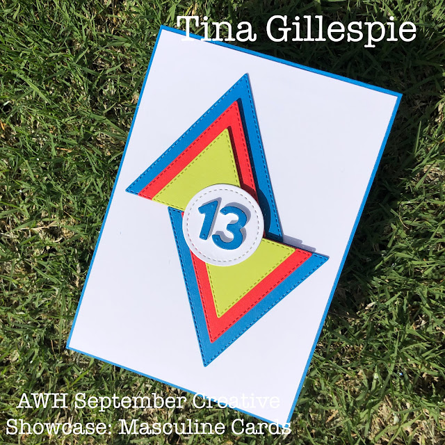 scissorspapercard, Stampin' Up!, Creative Showcase, Stitched Triangles Dies, Stitched Shapes Dies, Playful Alphabet Dies, Family Party,