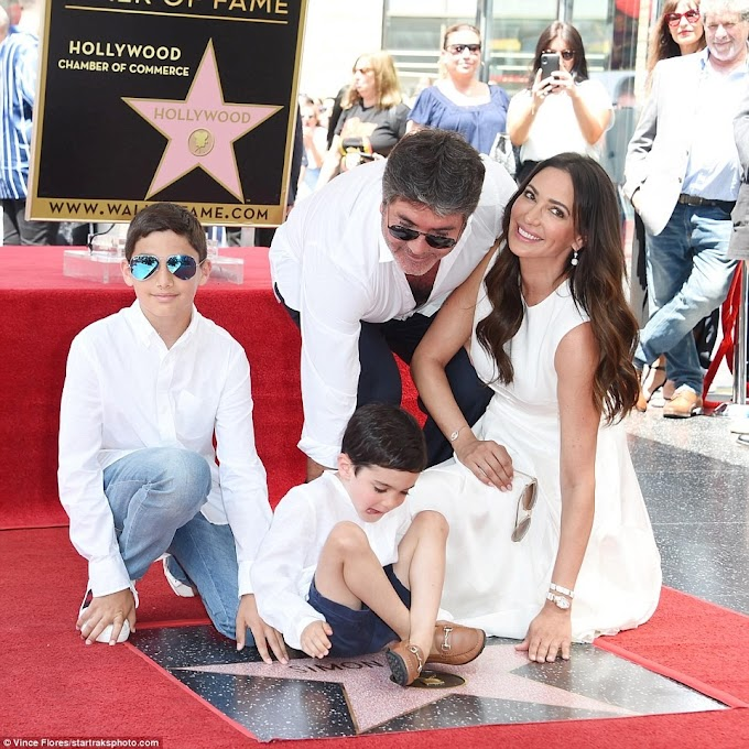 Simon Cowell receives star on Hollywood Walk of Fame & is joined by his family at the glitzy ceremony (Photos)