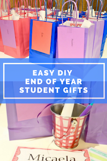 Easy end of the year student gifts for your middle school classroom! These are cheap and cost-effective! Such a fun way to remember your year together :)