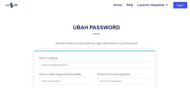Ubah Password SSCASN 2021