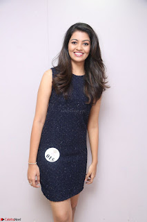 Model Shreya Kamavarapu in Short Black Dress at FBB Miss India 2017 finalists 034.JPG