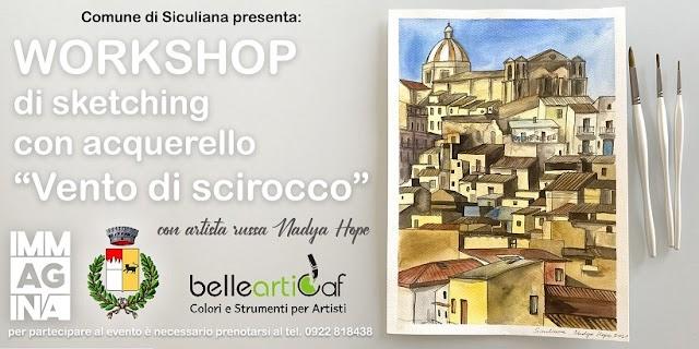 """Siculiana, workshop artistico """"Vento di scirocco"""" con Nadya Hope il 25 agosto"""