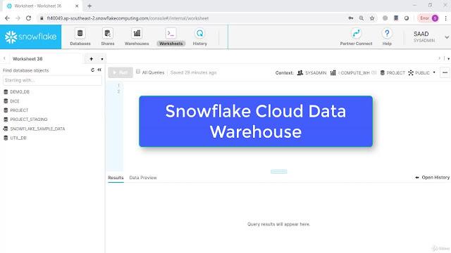 Snowflake Cloud Data Warehouse:Hands-On SQL Training