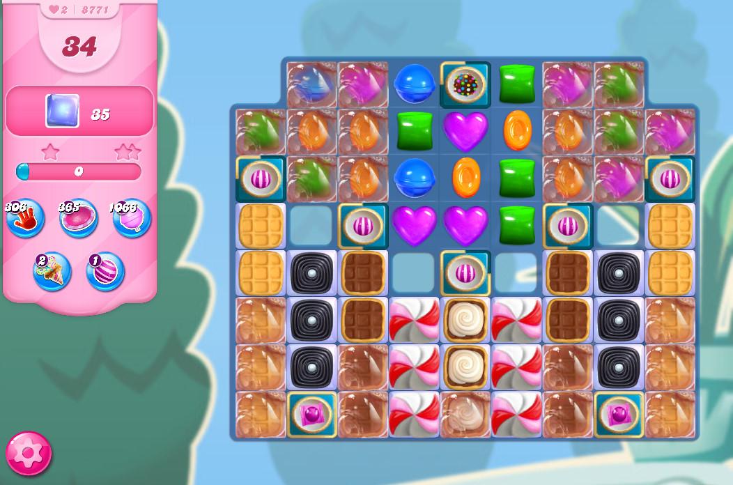 Candy Crush Saga level 8771