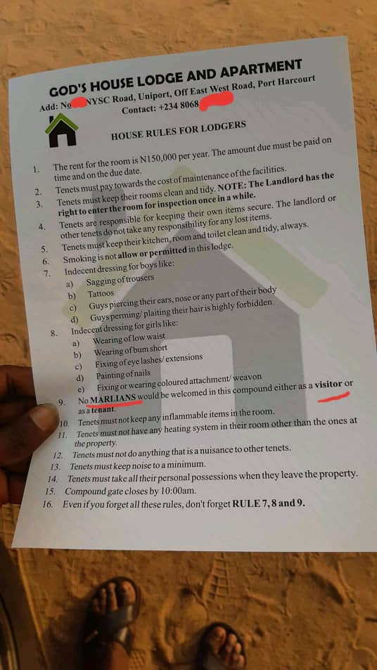 Landlord Places Very Strict Rules On His Tenants Renting His House (Photo) 1