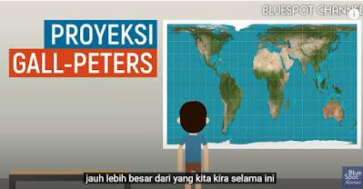Proyeksi gall-Peteres, Luas Negara indonesia di bandingkan dengan negara-negara lain di dunia