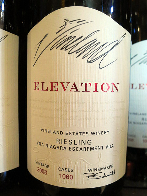 Vineland Estates Elevation St. Urban Vineyard Riesling 2008 (91 pts)