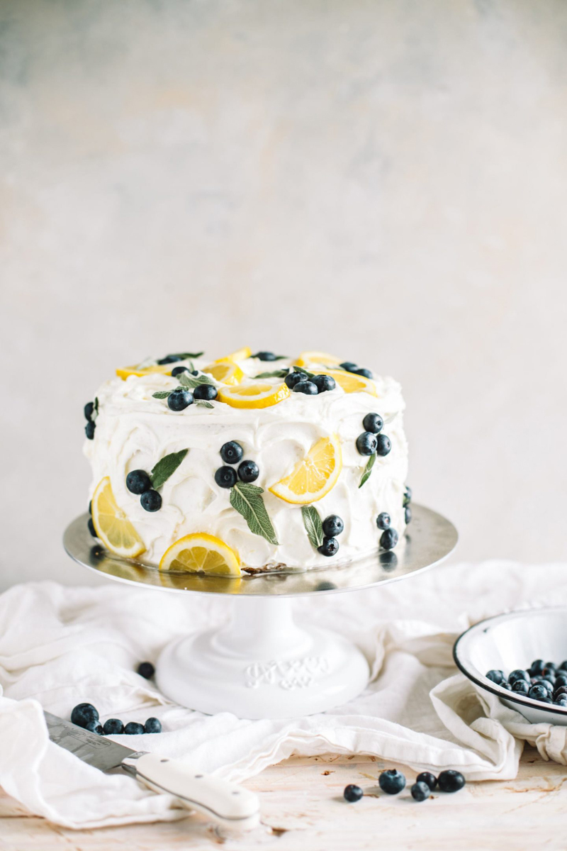 Lemon Blueberry Cake with Lemon Buttercream