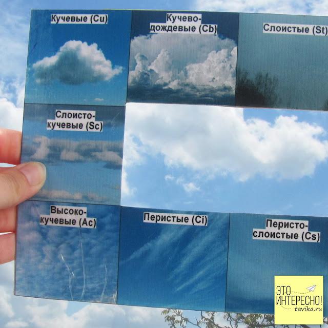 Рамка  - пособие для изучения облаков для распечатки