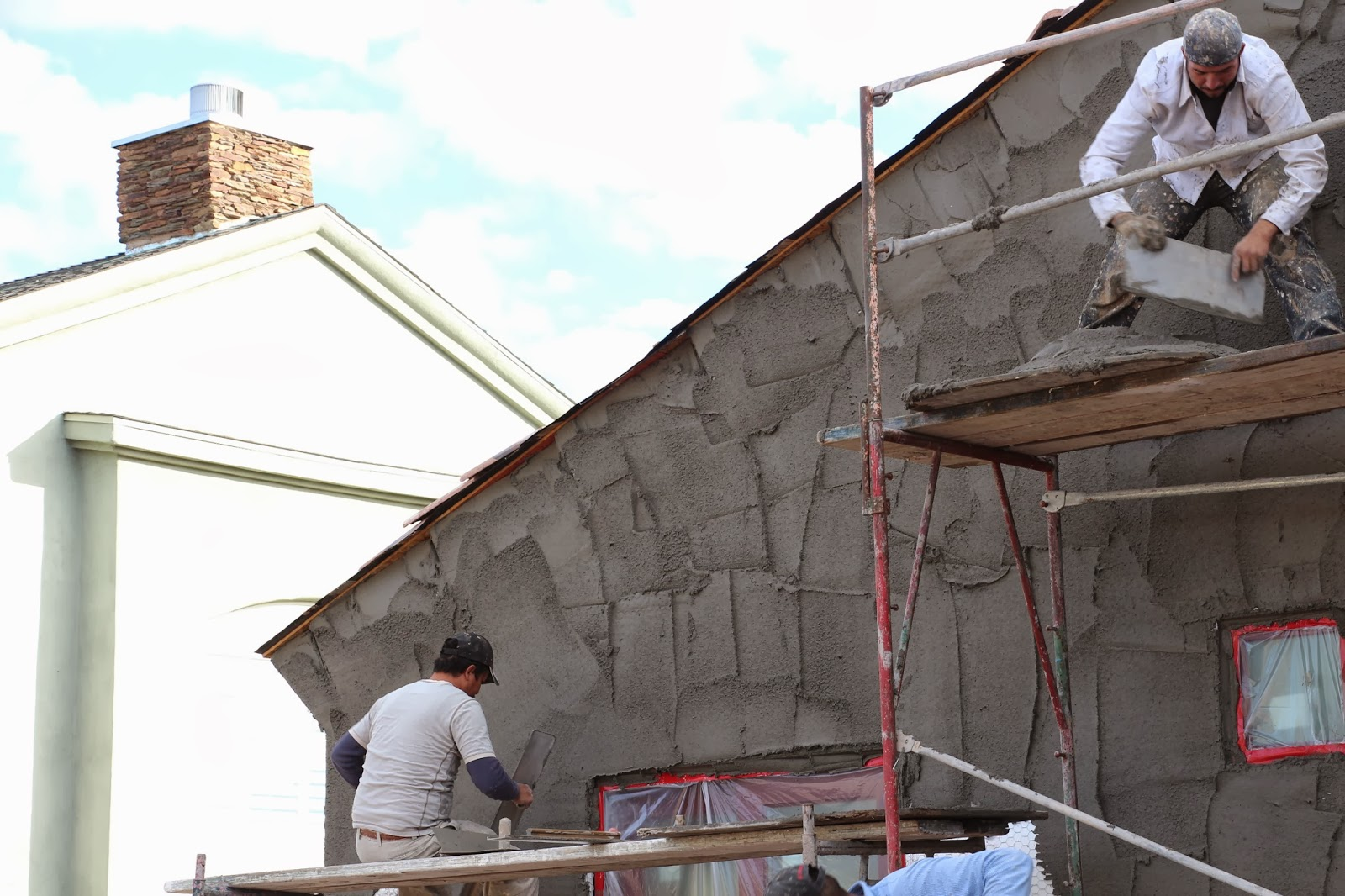Dusty Coyote Stucco Starts And Interior Painting