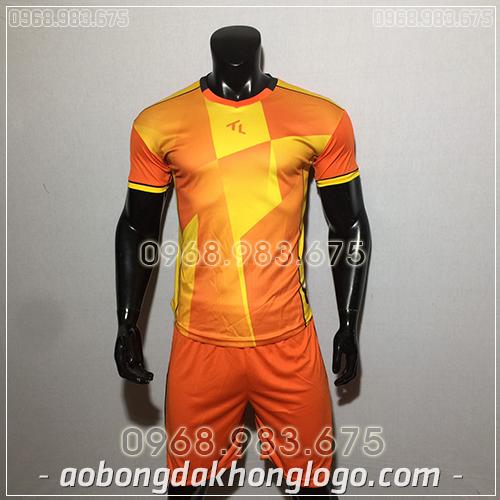 Áo Bóng Đá Ko Logo TL TBA màu cam