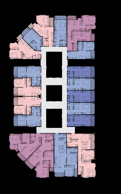 Mặt bằng tầng 7 đến tần 26 dự án Tân Hoàng Minh Phú Thượng