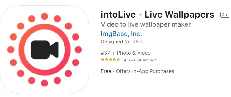 iphone video format - intoLive app