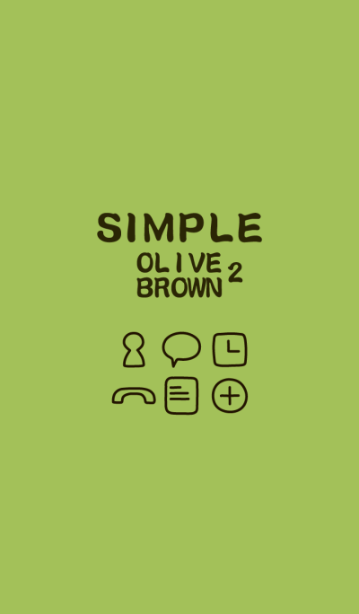 SIMPLE olive×brown2*