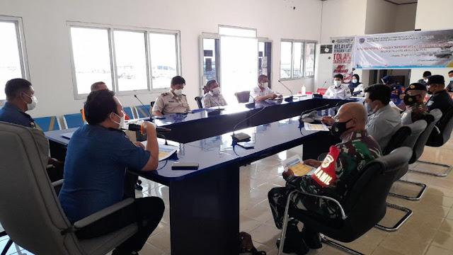 Rapat Koordinasi Bersama Kementerian Perhubungan Diikuti Danramil 1310-03/Likupang Terkait Dukung Larangan Mudik