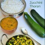 Zucchini Thoran Recipe | Courgette Thoran | Zucchini Stir Fry | Zucchini Poriyal