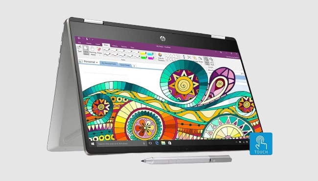 2nd best laptop for artists: HP Pavilion x360 dh1011TU