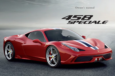 Ferrari 458 Speciale Owners Manual